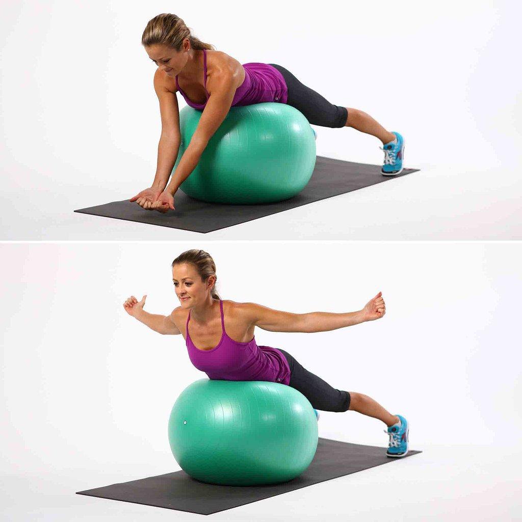 Упражнения с фитболом в картинках