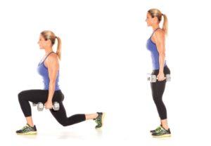 Выпады вперёд с весом