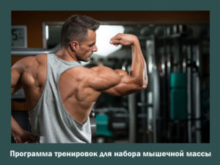 Программы тренировок для набора мышечной массы