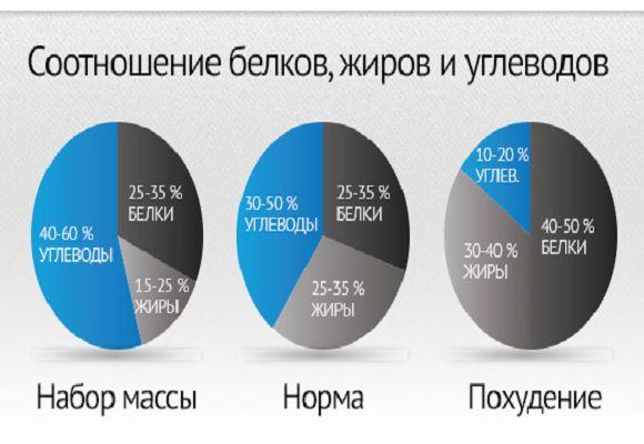 Распределение БЖУ