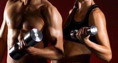 Гантели для набора мышечной массы