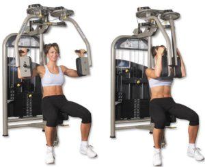 упражнения для набора массы для девушек - сведение-рук бабочка