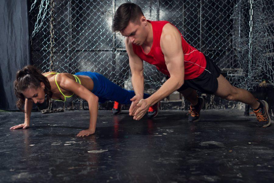 Отжимания от пола для набора мышечной массы