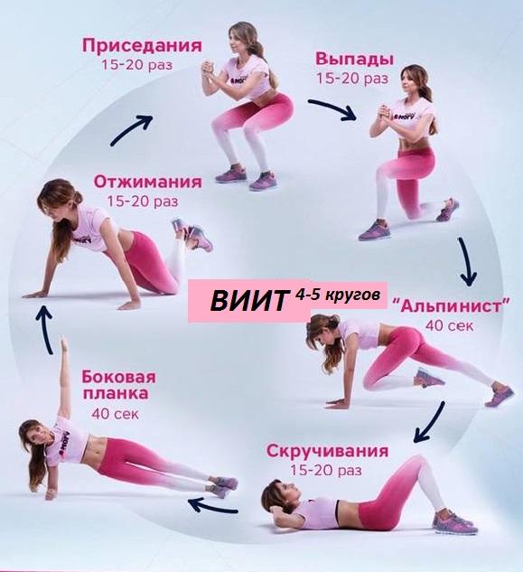виит упражнения для ног женщинам