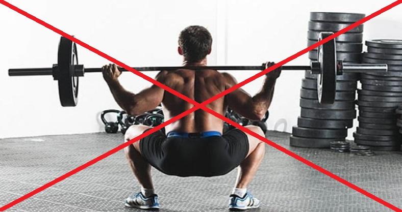 силовые тренировки и питание - запрещены упражнения