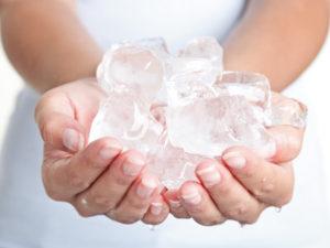польза ледяной воды для кожи