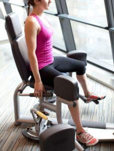 избавиться от спазма - упражнение в тренажере