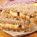 меню для набора мышечной массы - сэндвич с бананом и медом