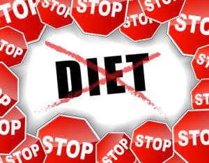 правильно убрать жировые отложения - прекратить диеты