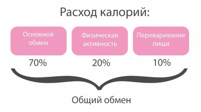 суточный расход для похудения или набора массы в калькуляторе