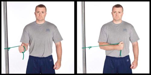 вращательная (ротаторная) манжета плеча - упражнения с фитнес резинкой