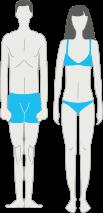 тип телосложения - эктоморф
