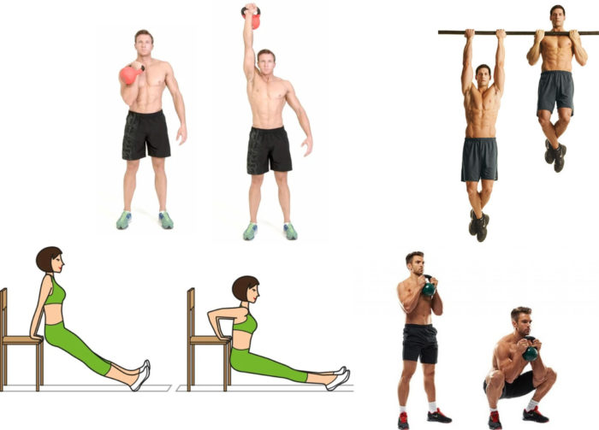 силовые упражнения для домашней нагрузки
