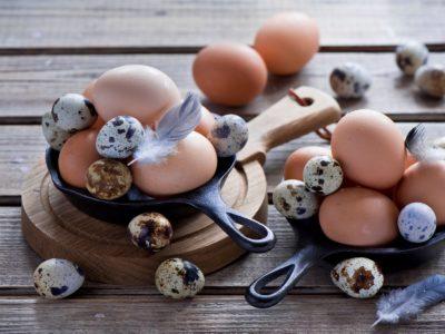 перепелиные и куриные - калорийность на 100 грамм