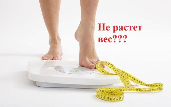 не происходит набор массы - недостаточно калорий