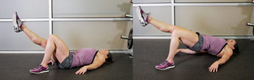 упражнение на одной ноге для накачки ягодиц