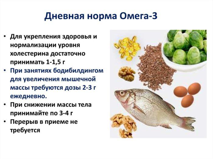дневная норма омега-3 жирных кислот